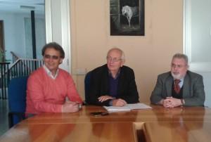 Conferenza stampa, da sinistra Miletto, Visca e Tomeo